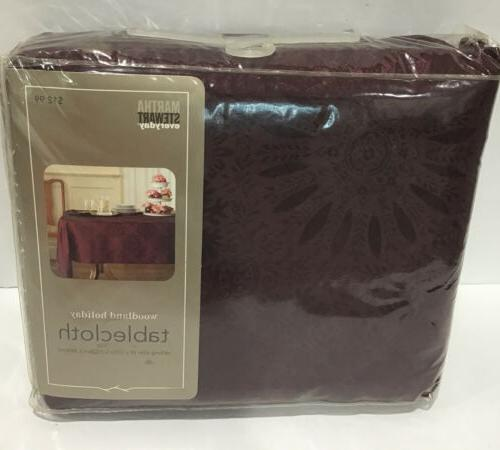 "Cloth Woodland 60x120"" Burgundy"