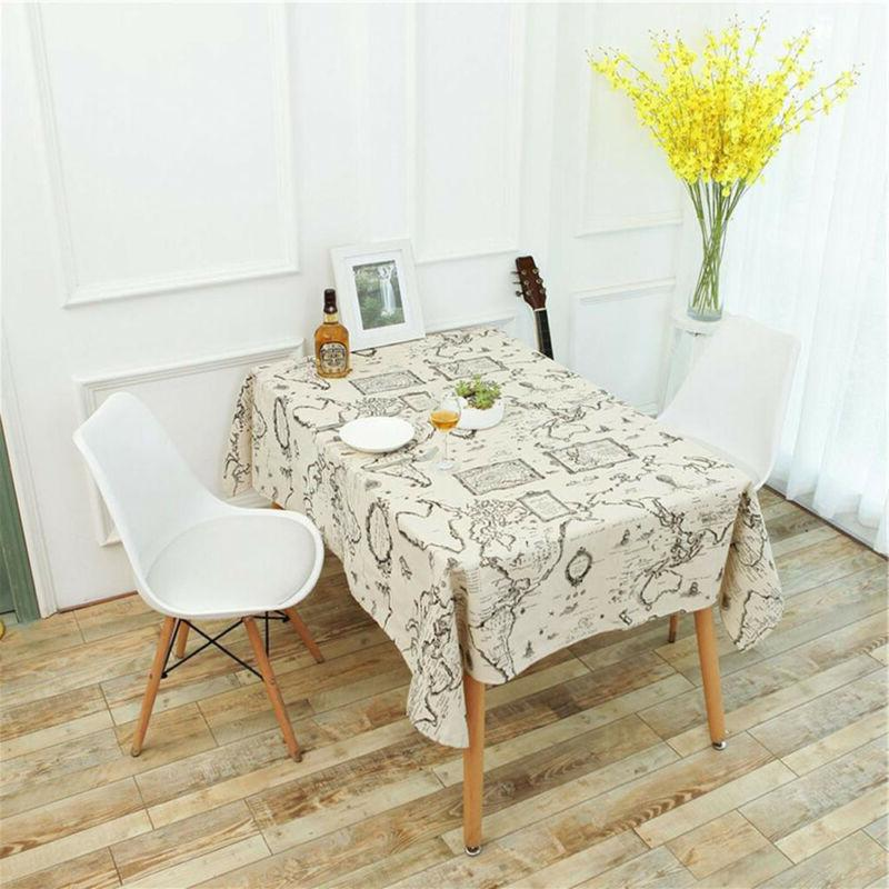 vintage world map dinning coffee table cotton
