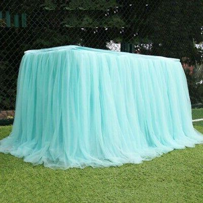 Table Tulle Tutu Cover Wedding Party