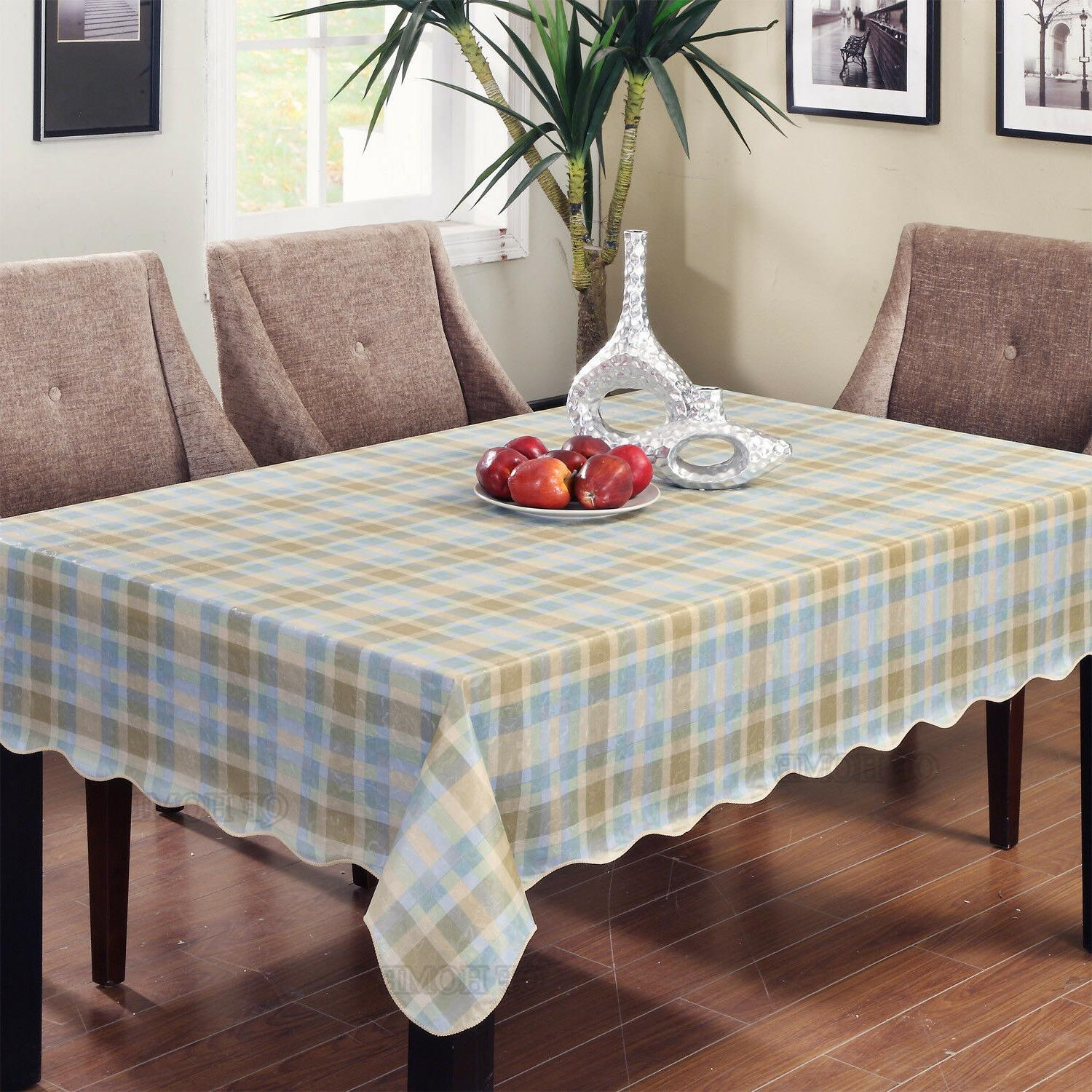 Warterproof Vinyl with Flannel Backed Rectangle/Oblong