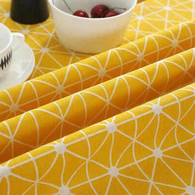 Table Cloth Printed Cotton Dining Round