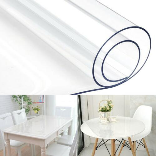 waterproof pvc clear table cover tablecloth transparent
