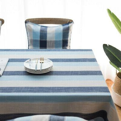 Waterproof Simple Cloth Cover Stripe Kitchen