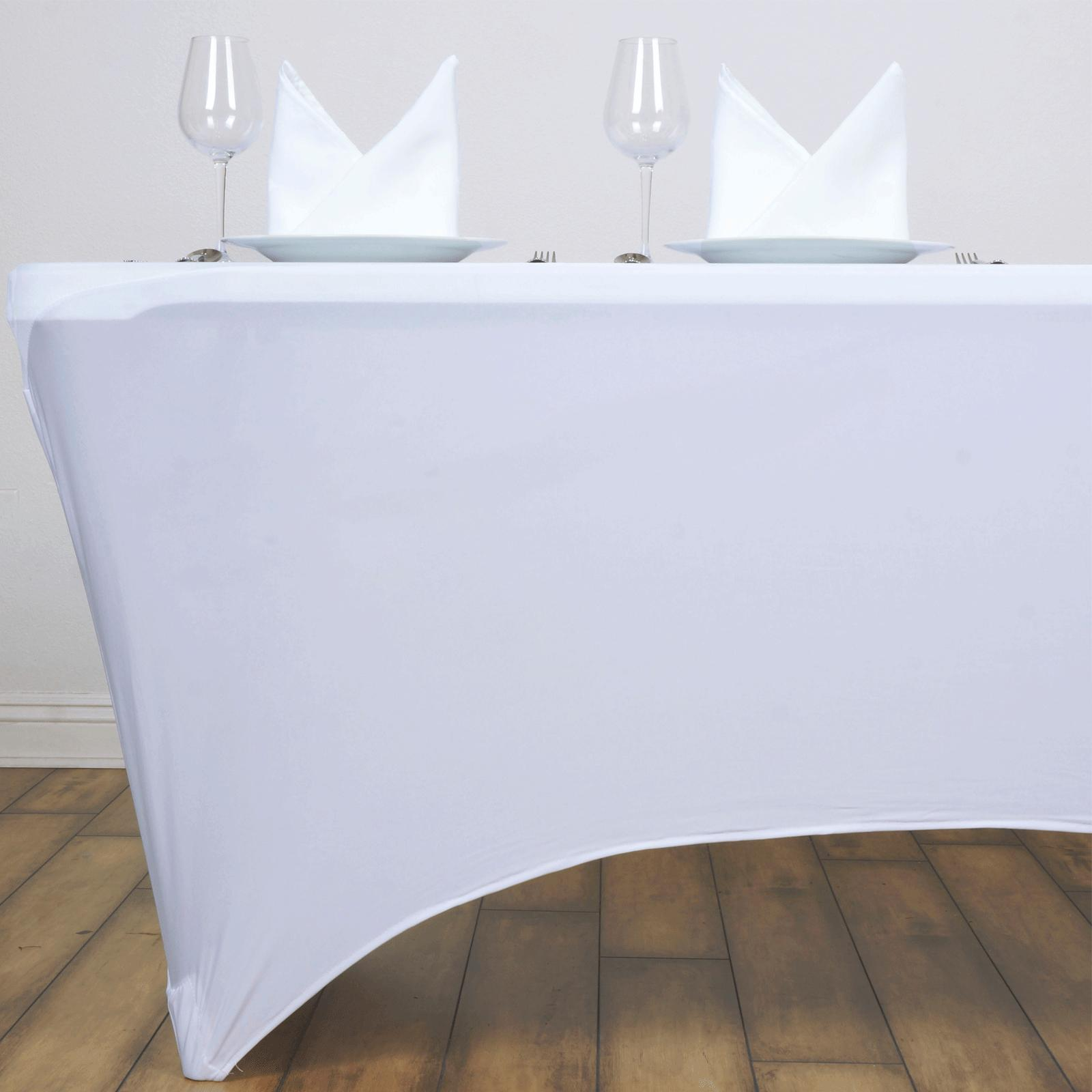 Wedding Table Cover Rectangular Fitted Stretch Tablecloth