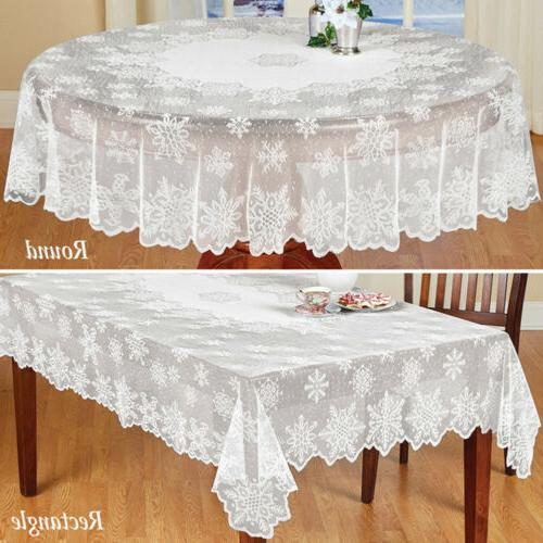 white lace tablecloth table cloth covers vintage