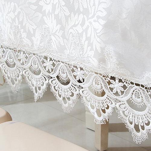 White rectangle lace for wedding and