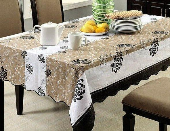 Wipe Clean Table PVC Tablecloth Cover Decor
