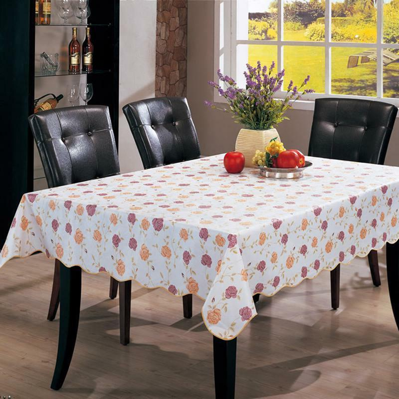Wipe Cloth PVC Tablecloth Dining Cover
