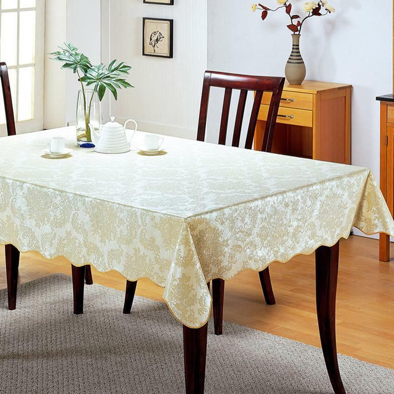 Wipe Table PVC Tablecloth Dining Cover Protector