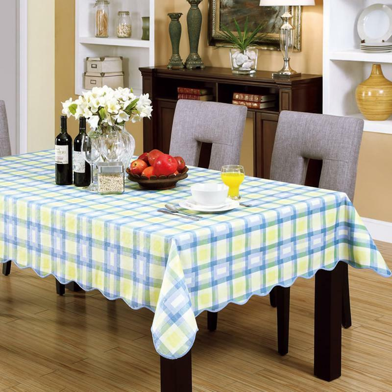 Wipe Clean PVC Tablecloth Cover Home Decor