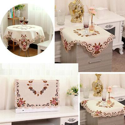 Square/Rectangle Home Kitchen Tablecloth Royal Pastoral Embr