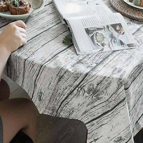 Wood Pattern Table Cloth Table