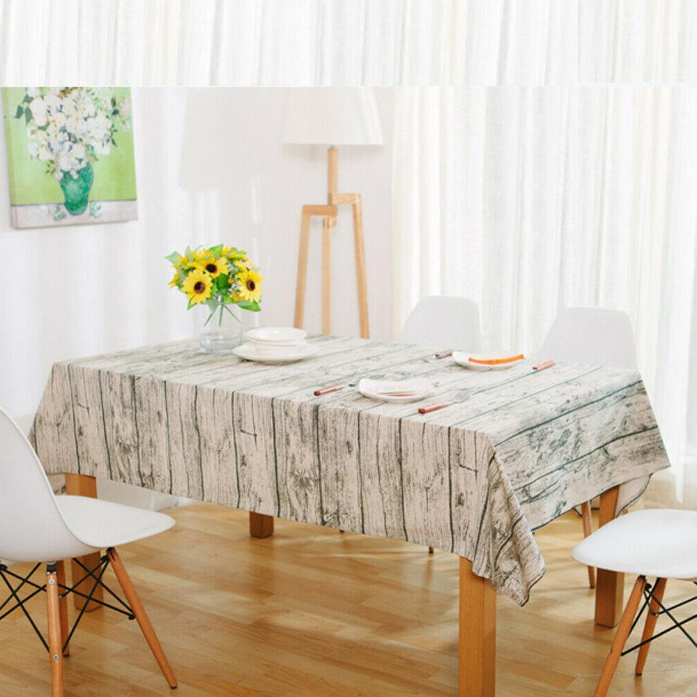 Vintage Square Table Cloth Bark Pattern Tablecloth Table Cover