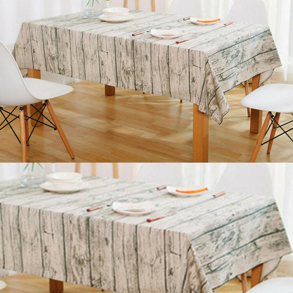 Vintage Square Cloth Pattern Kitchen Tablecloth Table