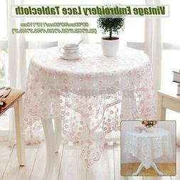 Lace Embroidery Flower Table Cloth & Tablecloth For Home Des