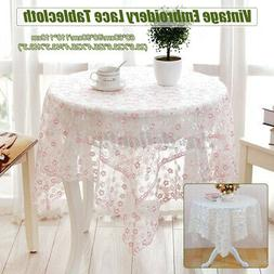 Lace Embroidery Flower Table Cloth * Tablecloth For Home Des