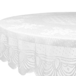 DII Lace Floral Poly Tablecloth