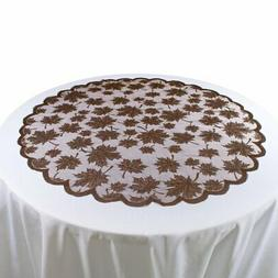 DII Lace Leaf Table Topper