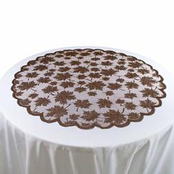 lace leaf table topper