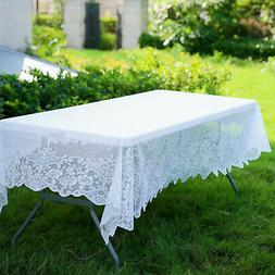 LACE RECTANGULAR TABLECLOTH Floral Polyester Catering Home P