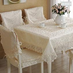 FADFAY Lace Table Cloth Lace Table Cover Cream-Coloured Tabl