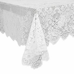 Juvale Lace Tablecloth - Rectangular Tablecloth with Elegant