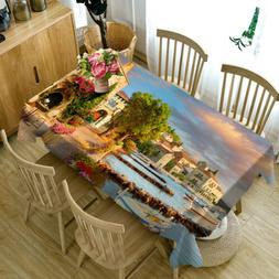 Lakeside Villa printing Table Cloth Cover Home Dining Kitche