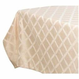 "Lenox Laurel Leaf 70""x122"" Oblong Tablecloth, Ivory"