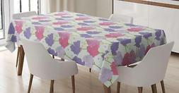 Lavender Tablecloth Ambesonne 3 Sizes Rectangular Table Cove