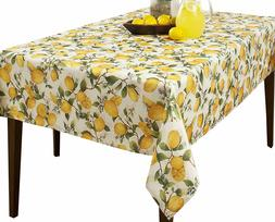 Creative Dining Group Lemon Tree Spill-proof Printed Tablecl