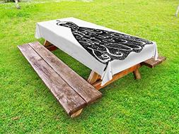 Ambesonne Lifestyle Outdoor Tablecloth, Life is Short Buy Th
