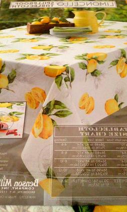 "Benson Mills Limoncello Tablecloth Indoor/Outdoor 60""x104"" N"