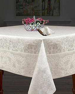 Linen Cotton Table Cloth - Size 71-Inch Square with 6-inch d