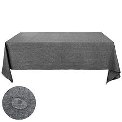 Deconovo Linen Tablecloth 52 x 70 Inch Rectangular Recycle C