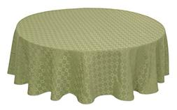 """Bardwil Linens Chandler 60""""X84"""" Oval Tablecloth,Green"""