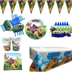 Lion King Birthday Party Kids Tableware Decor Cartoon Plates