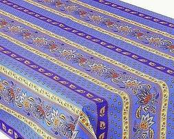 LE CLUNY, LISA BLUE, FRENCH PROVENCE COATED COTTON TABLECLOT
