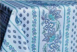 LE CLUNY, LISA, TURQUOISE, FRENCH PROVENCE COATED COTTON TAB