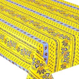 LE CLUNY, LISA YELLOW-BLUE, FRENCH PROVENCE COATED COTTON TA