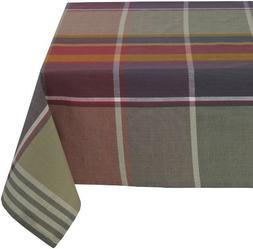 Mahogany Lua 60-Inch by 90-Inch Large Multi-color Plaid Tabl