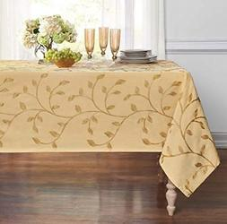 GoodGram Luxurious Heavy Weight Madison Leaf Embroidered Fab