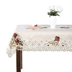 Luxury Cutwork Handmade Embroidery Floral Jacquard Table Clo