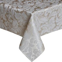 Eforcurtain Luxury Jacquard Weave Rectangle Tablecloth Spill