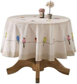 Maison D' Hermine Birdies On Wire 100% Cotton Tablecloth For