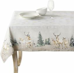 Maison d' Hermine Deer in the Woods  100%Cotton Tablecloth 5