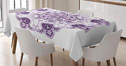Ambesonne Mandala Decor Tablecloth, Kaleidoscope Style Ring