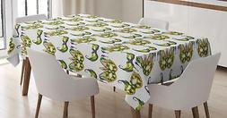 Mardi Gras Tablecloth by Ambesonne 3 Sizes Rectangular Table