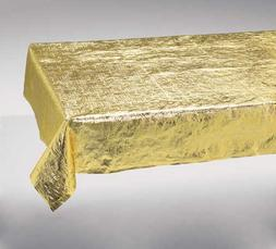 Metallic Gold Metallic Tablecover 54 X 108 Solid