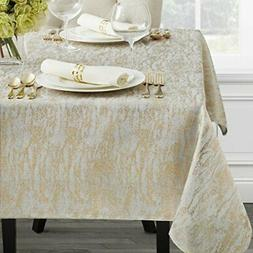 "Benson Mills Metals Metallic Foil Printed Tablecloth (60"" x"