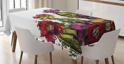 Mexican Cactus Tablecloth Ambesonne 3 Sizes Rectangular Tabl